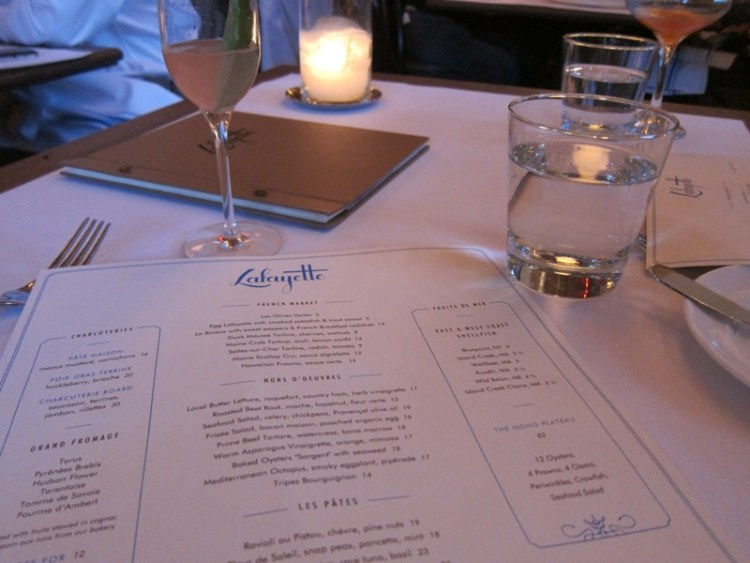 Dinner at Lafayette
