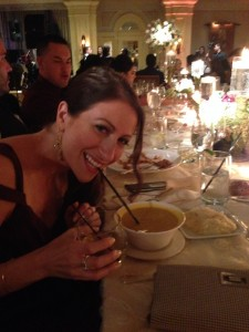 And here I am drinking soup through a straw.