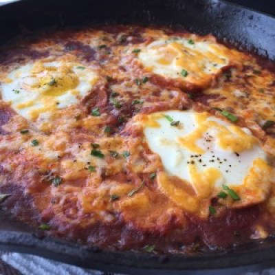 Shakshuka side view