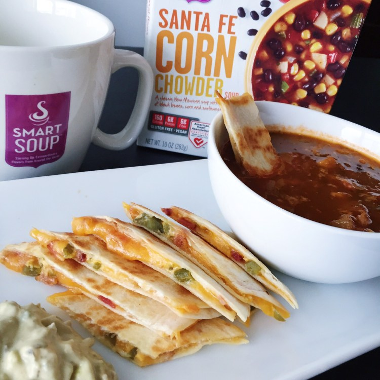 Smart Soup Santa Fe Corn Chowder and Bacon-Jalapeno Quesadippers