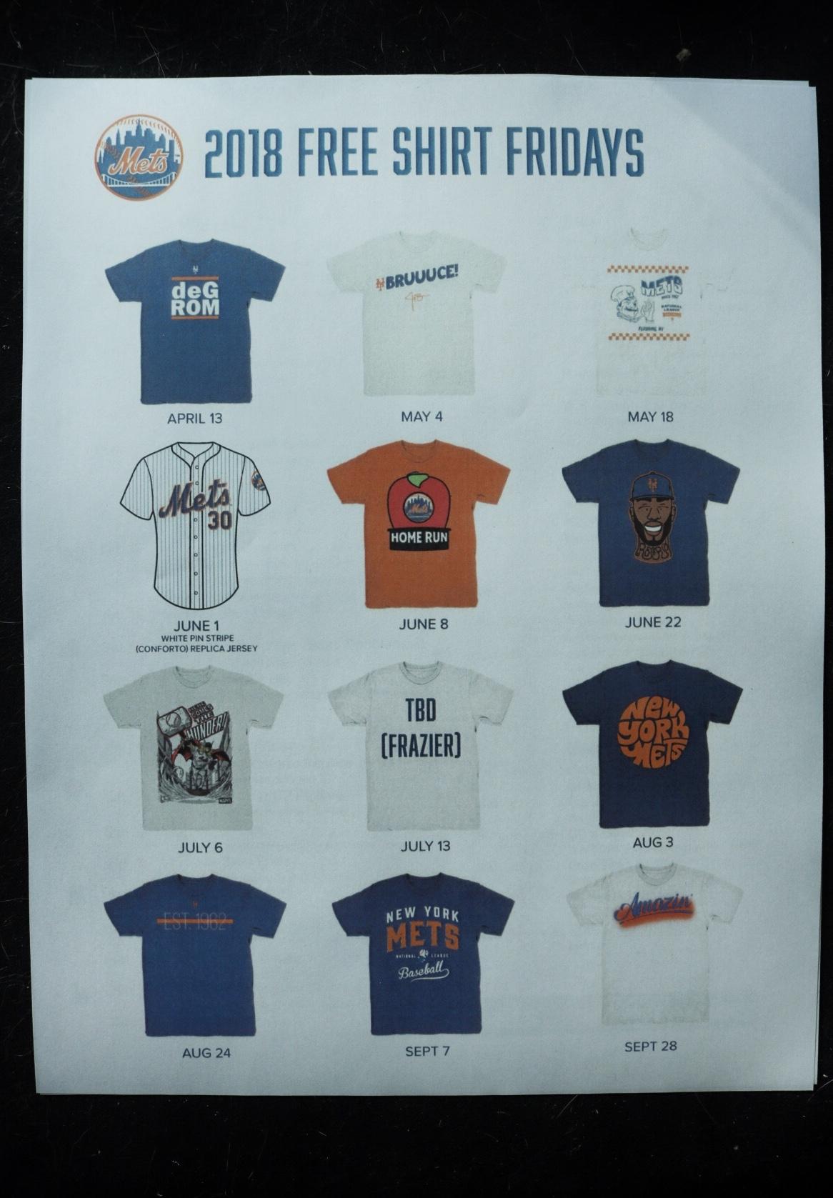 2018 t-shirts fridays citifield