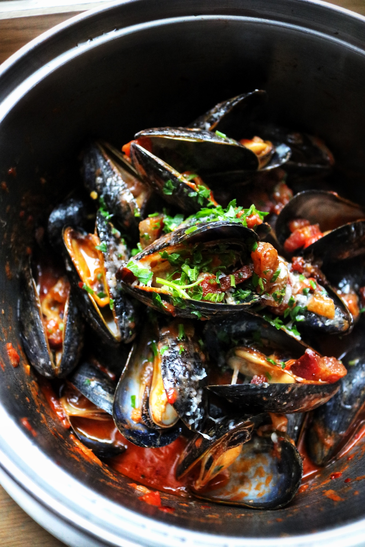 Mussels amatriciana flex mussels