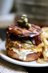 Studio Burger with Fries Freehand hotel nyc