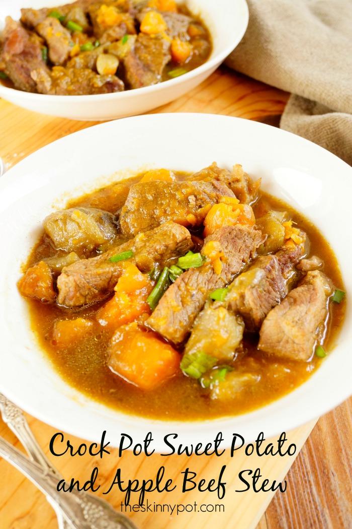 Crock Pot Sweet Potato and Apples Beef Stew