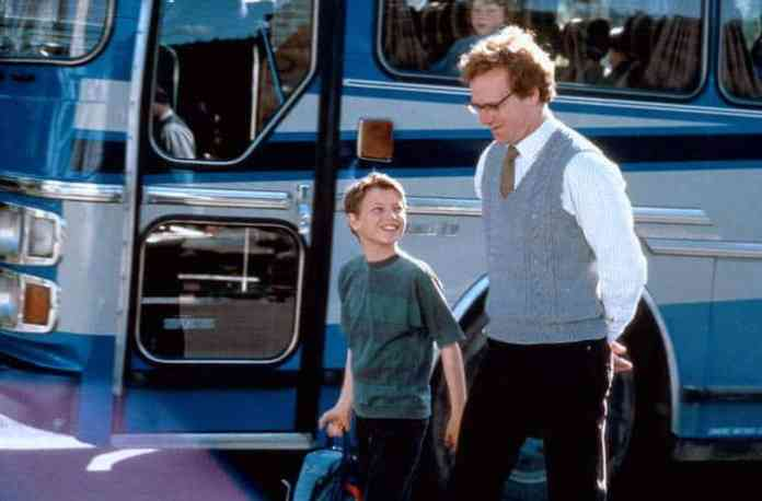 James (Chris Cleary Miles) and Graham Holt (William Hurt) in Second Best.