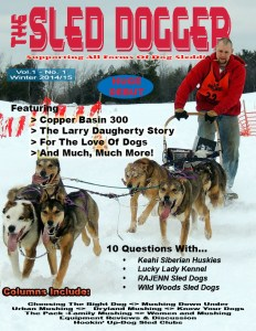 Winter Issue Cover - Sled Dogger