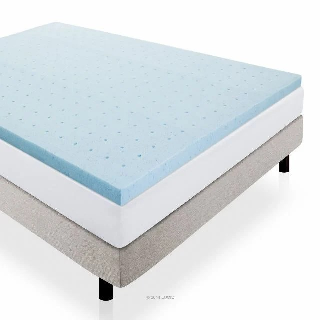 Lucid Gel Infused Ventilated Memory Foam Mattress Topper