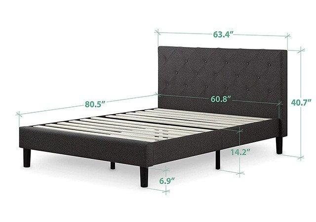 wide   king size bed frame  sleep judge