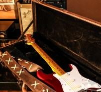 Stratocaster red strat David Gilmour studio Sleepless 2