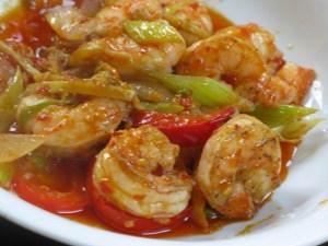 Shrimp with garlic sauce