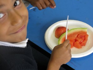 Kids love fresh fruits and vegetables