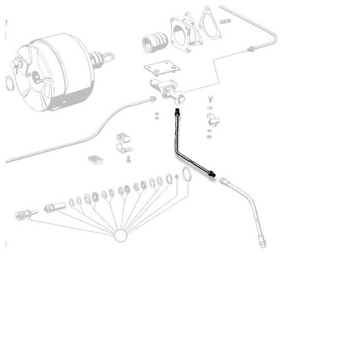 small resolution of mercedes benz rear left solid brake line 1234206028