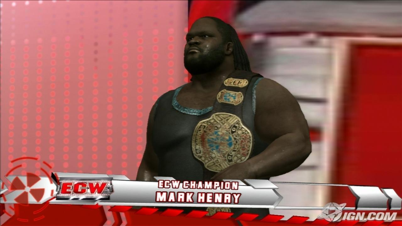 Mark Henry Wwe Smackdown Vs Raw 2009 Roster