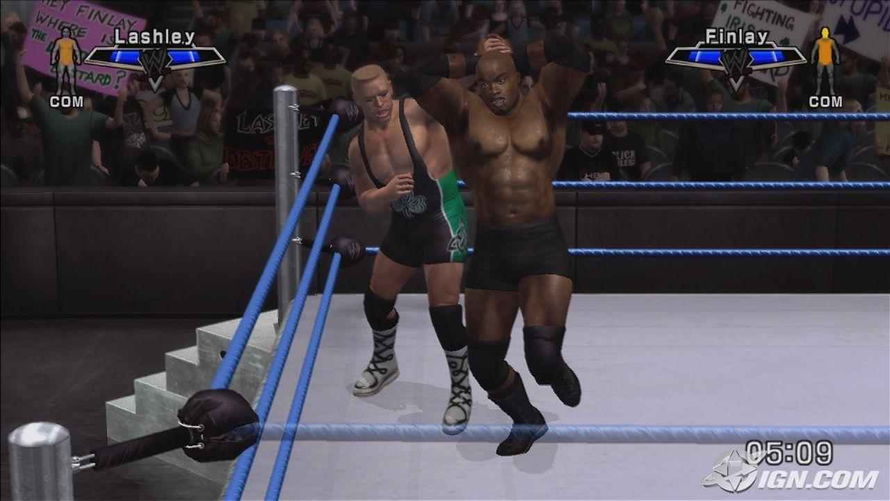 Bobby Lashley WWE SmackDown Vs Raw 2007 Roster