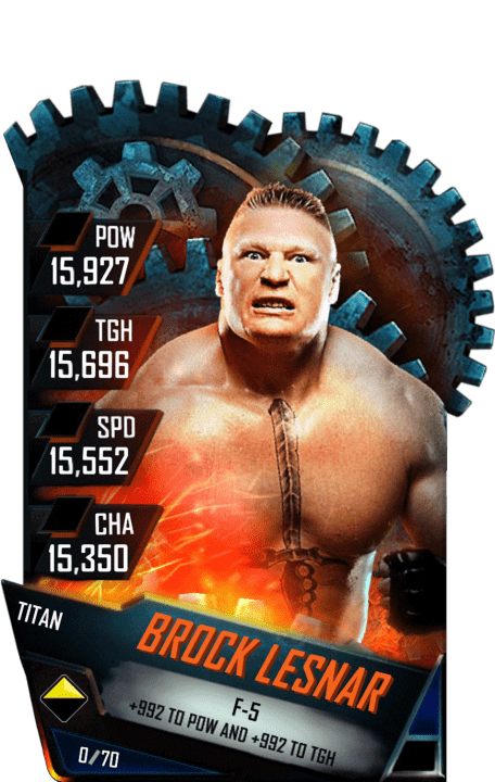 Brock Lesnar WWE SuperCard Season 1 Debut WWE