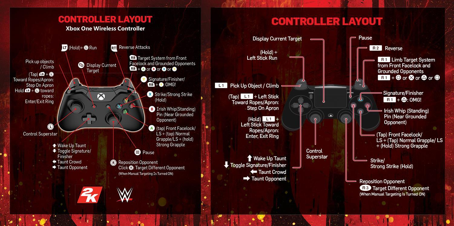 hight resolution of wwe 2k18 full game manual and controls ps4 xbox one pc wwe xbox 360 controls diagram image search results