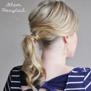 elegant curls fancy bun & glam