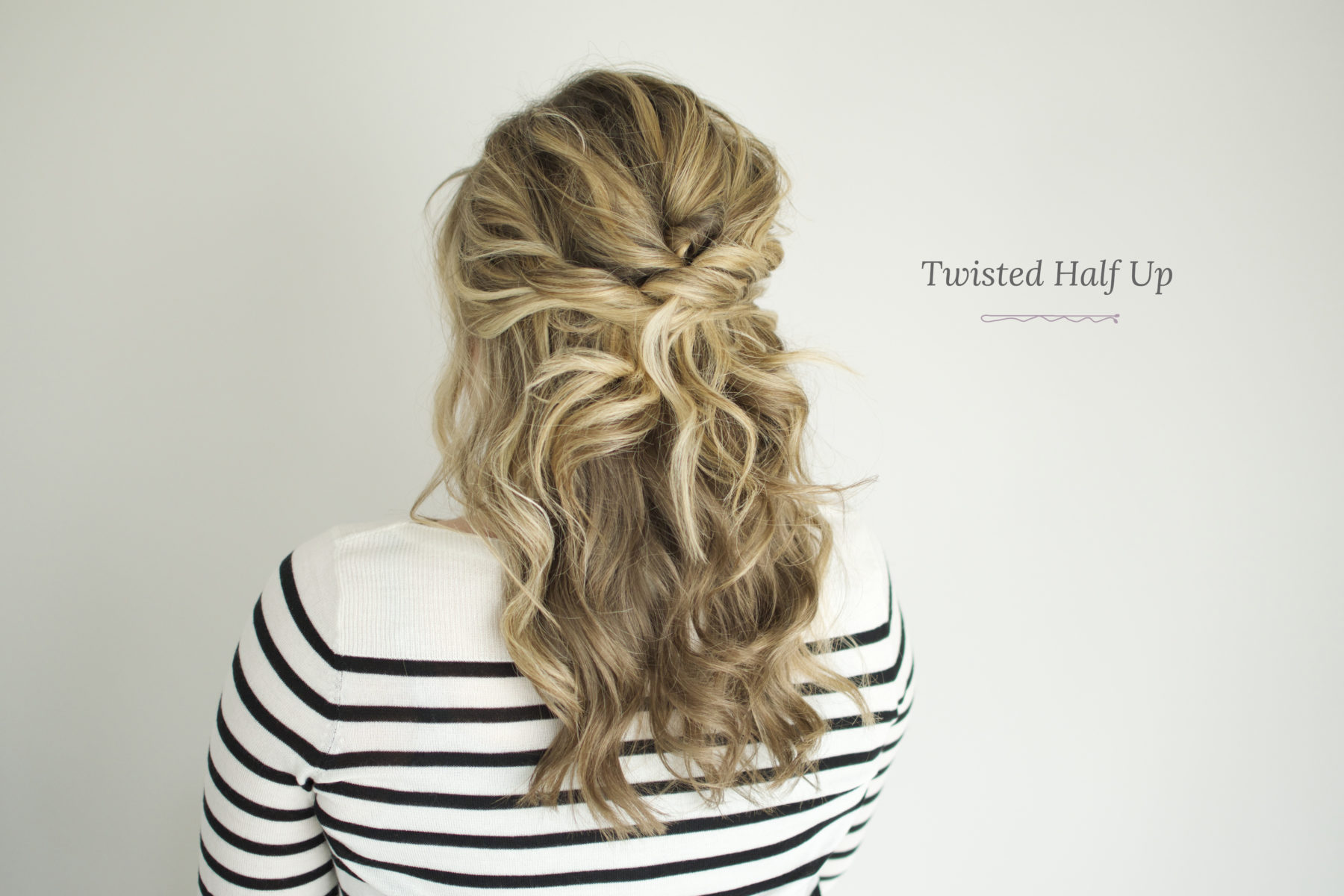 Twisted Half Up Tutorial  The Small Things Blog
