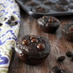 Double Dark Chocolate Banana Muffins | The Small Town Foodie