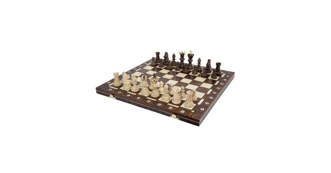 Ambassador High Detail European Wooden Handmade Chess Set