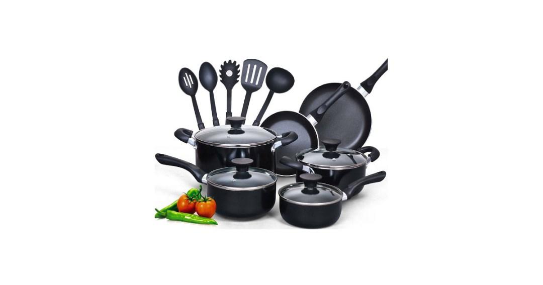 Cook N Home 15 Piece Non Stick Cookware Set