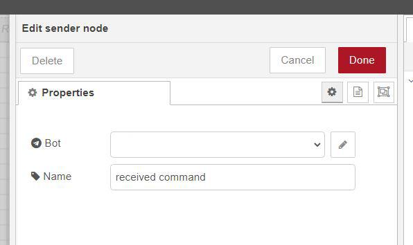 send msg node