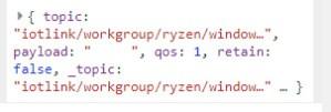 Current user debug payload