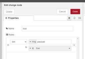 Google Home change node