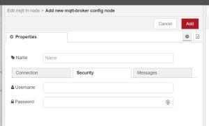 add new mqtt config security