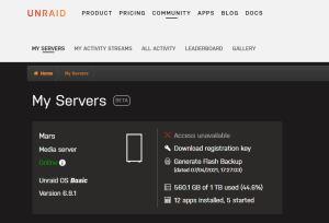 My Servers status