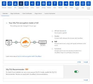 Cloudflare SSL Panel