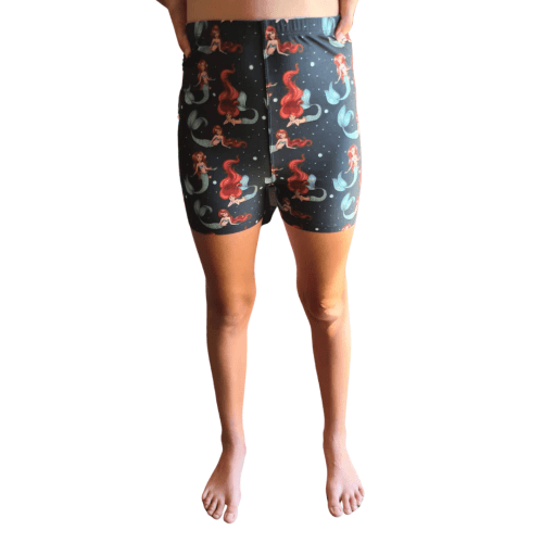 Mermaid Stare Printed Kids Bike Shorts