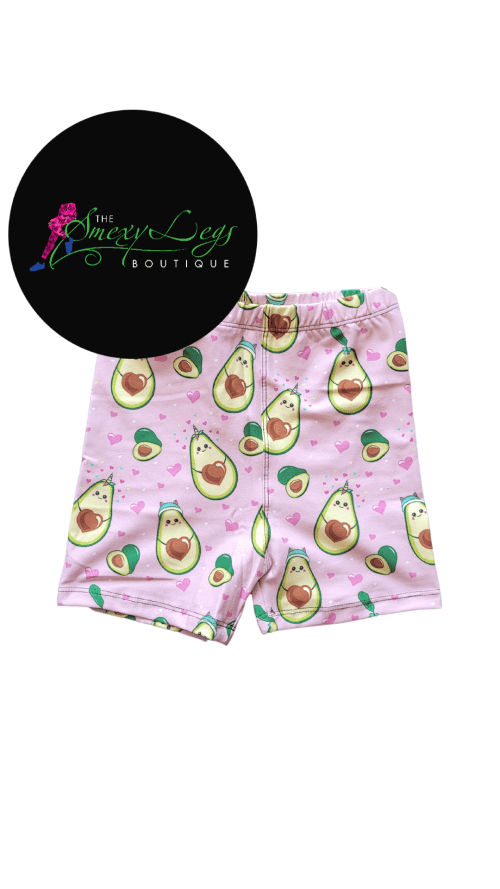 Avocado Love Printed Kids Bike Shorts