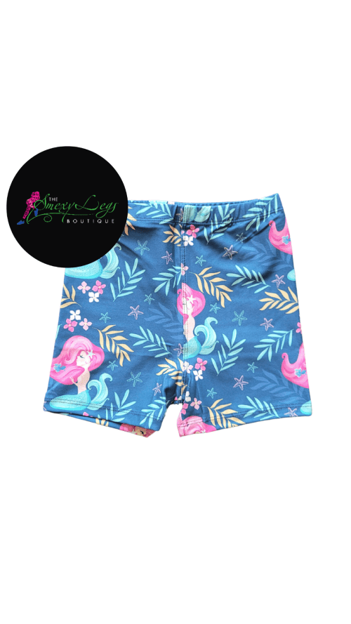 Model Mermaid Printed Kids Bike Shorts