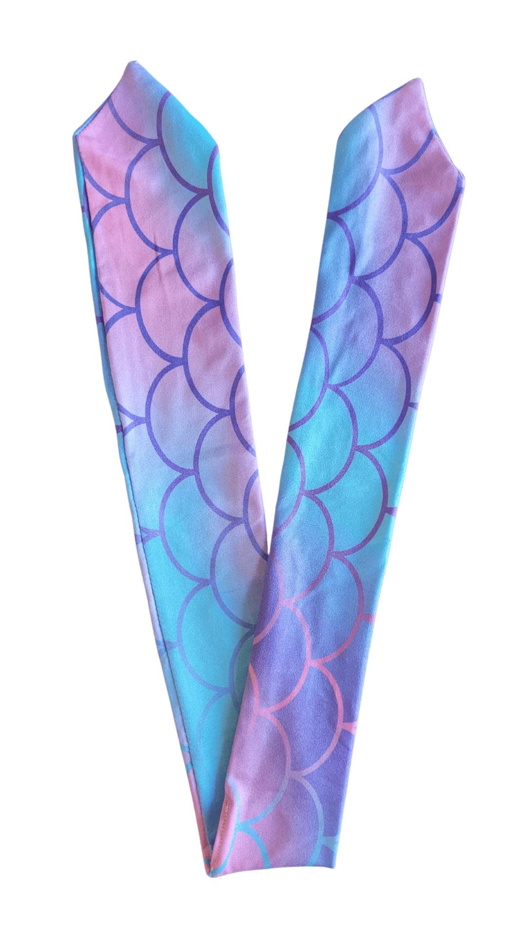 Pearlescent Mermaid Printed Tie Up Band