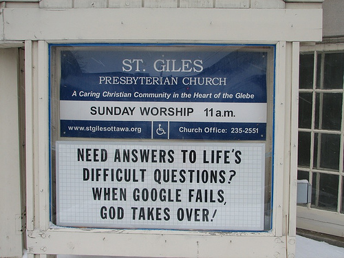 Google vs God