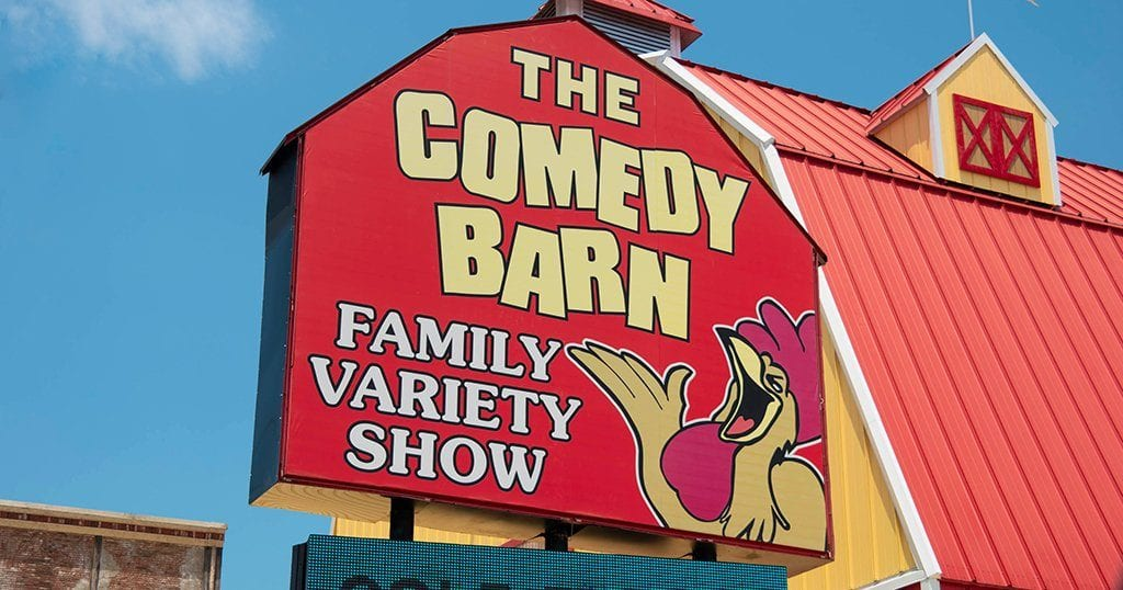 The Comedy Barn in Pigeon Forge is one of the many places in the Smokies that brings joy to our cheesy little hearts (photo by Zoe Cappello/shutterstock)