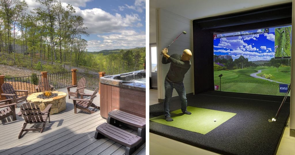 Summit 86 features an indoor pool, golf simulator and fire pit (photos courtesy of VRBO)
