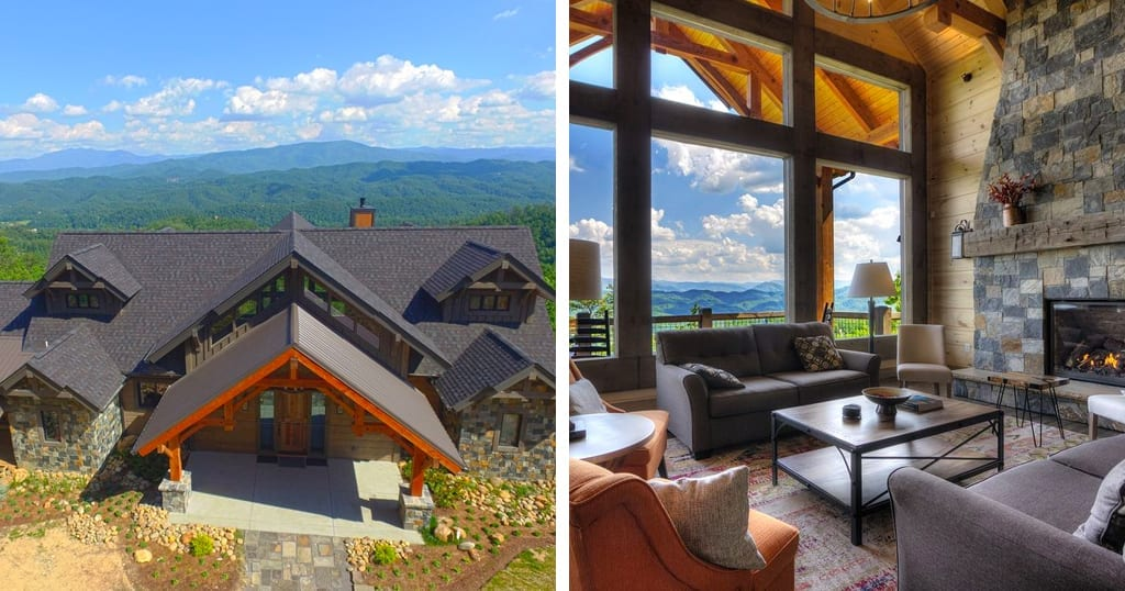 This cabin is the epitome of rustic modern mountain luxury (photos courtesy of VRBO)