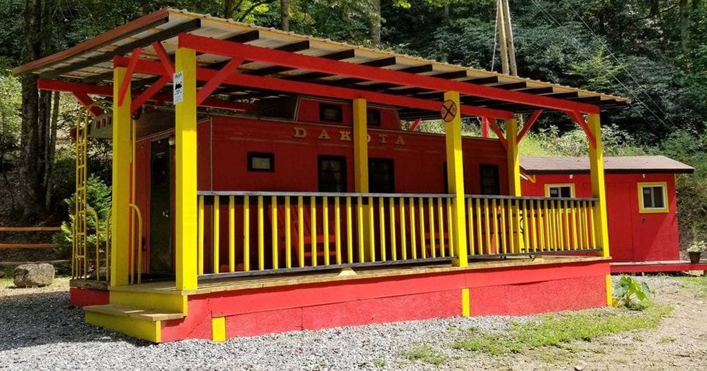 The Lil' Red Caboose in Bryson City, NC