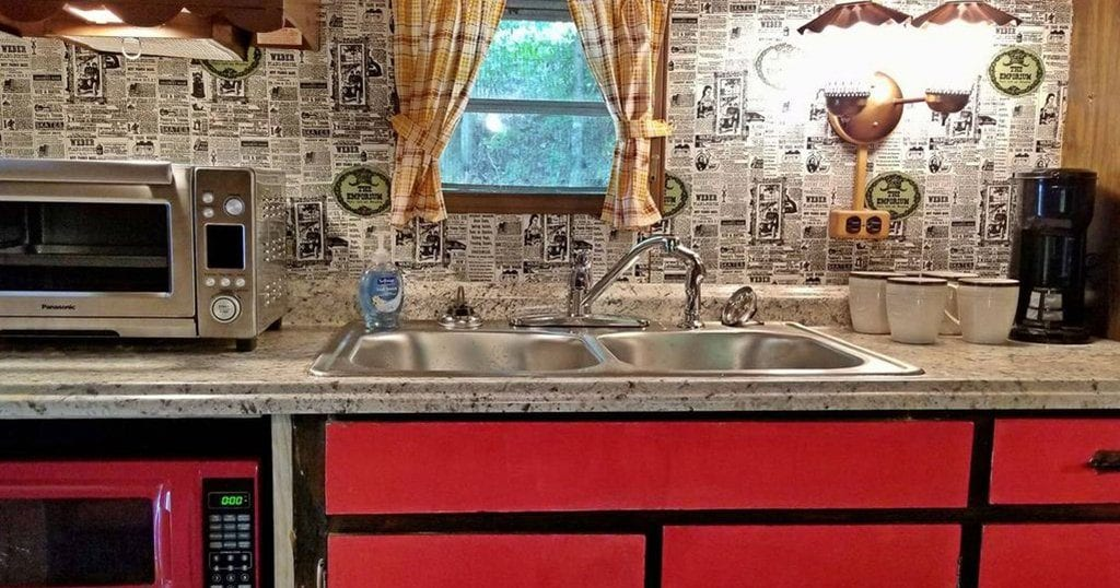 The Lil' Red Caboose's kitchenette. (Homeaway)