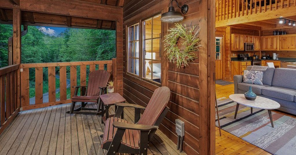 "Unplug in this ""plugged-in"" smart cabin in the Smokies (photo courtesy of VRBO)"