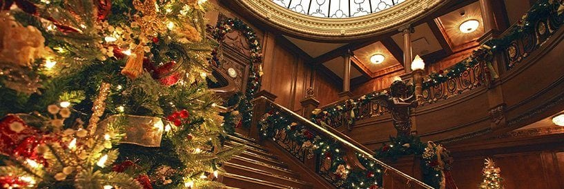 Christmas Decor Titanic Museum Staircase