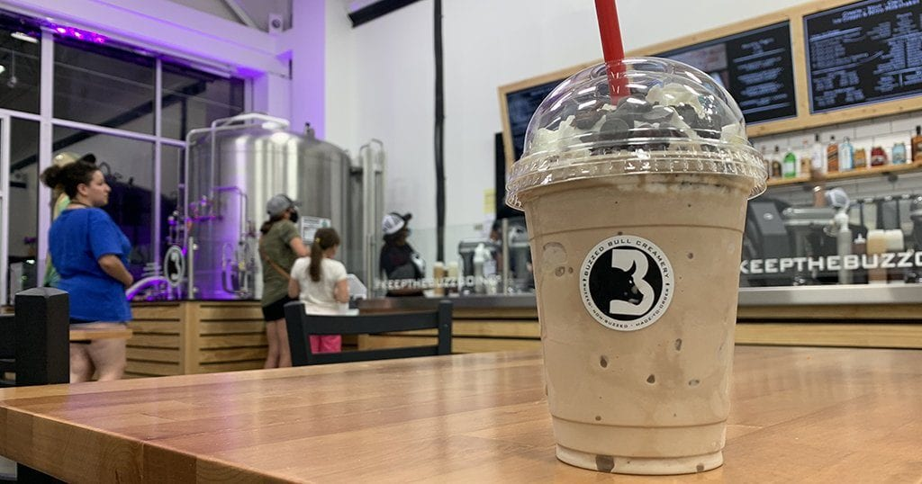 """A """"death by chocolate"""" buzzed milkshake at Buzzed Bull Creamery in Pigeon Forge (photo by Morgan Overholt/TheSmokies.com)"""