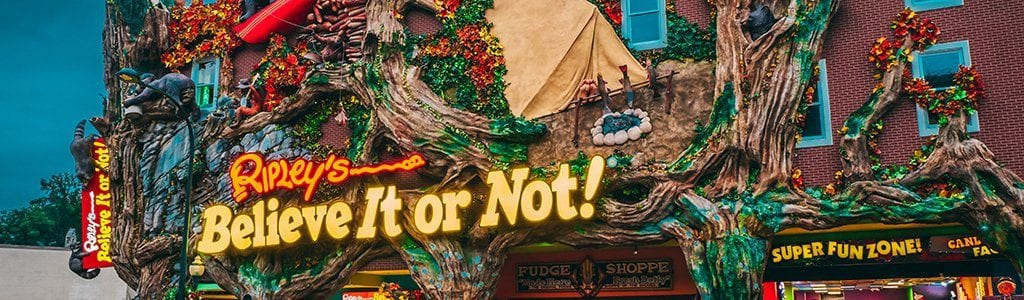 Ripley's Believe It or Not! Odditorium in Downtown Gatlinburg, TN (photo courtesy of Ripley's)