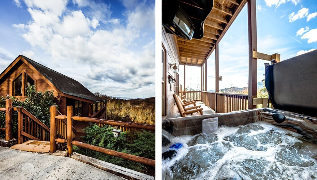 Our number one pick features incredible views and seclusion in the Smokies (photos courtesy of VRBO)