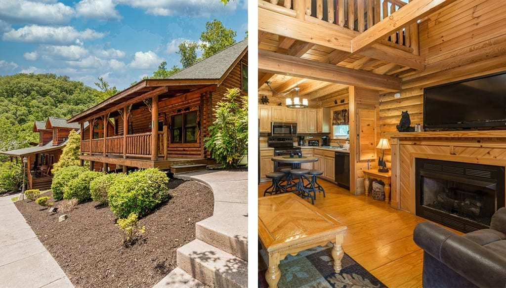 Mountain Dreaming features a hot tub, multi-game arcade machine, and is located just 9 miles from Dollywood (photos courtesy of VRBO)