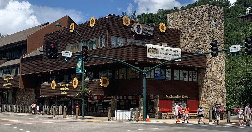 The Mountain Mall is located in Downtown Gatlinburg (photo by Morgan Overholt/TheSmokies.com)