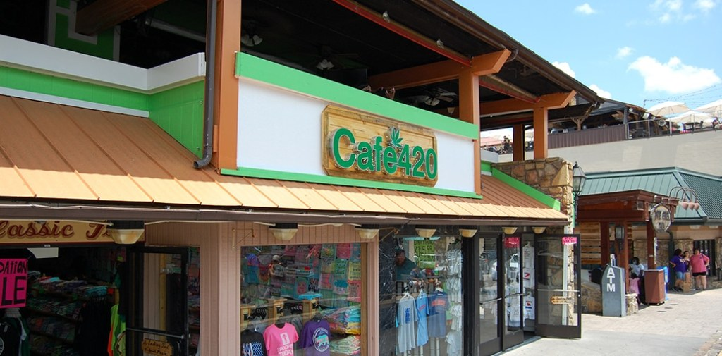 Cafe 420 is a fairly recent addition to Downtown Gatlinburg (photo by Morgan Overholt/TheSmokies.com)