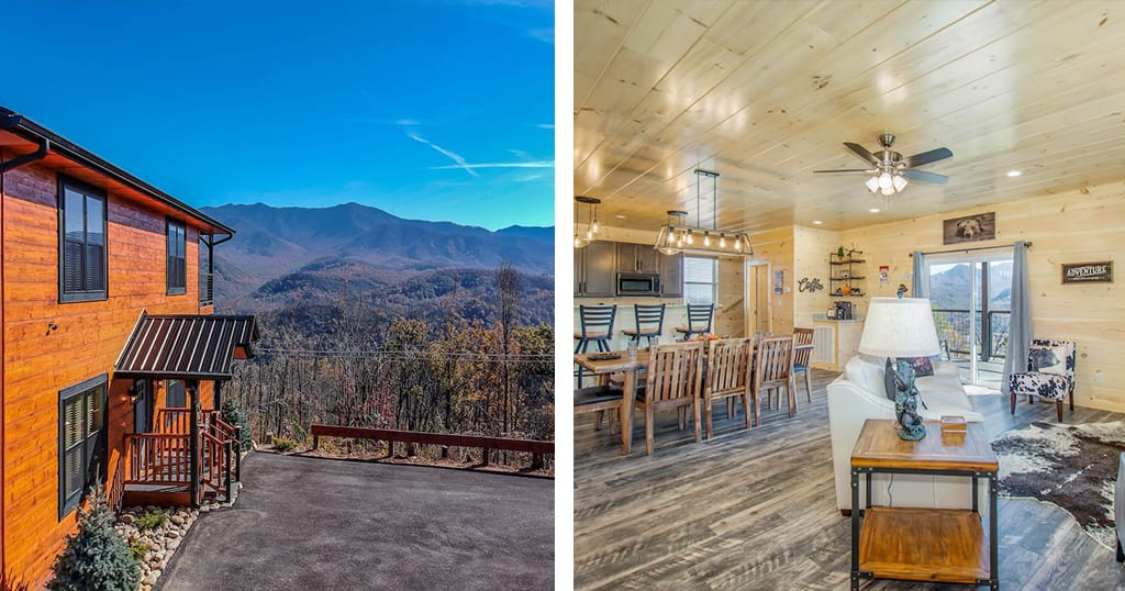 Here's a rare find: a cabin with views, a close proximity to downtown and 3 en suites (photo by Luxury Cabin/VRBO)